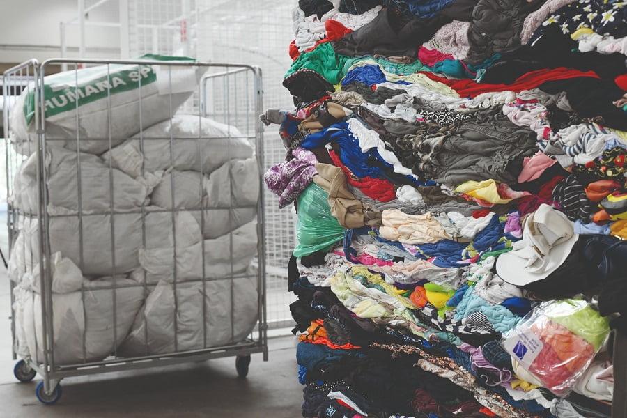 Residuos textiles humana